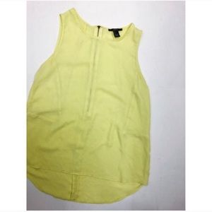 Forever 21 Yellow Silky Tank Top Size Small